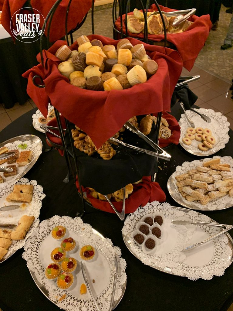 a selection of desserts from Newlands brunch buffet in Langley
