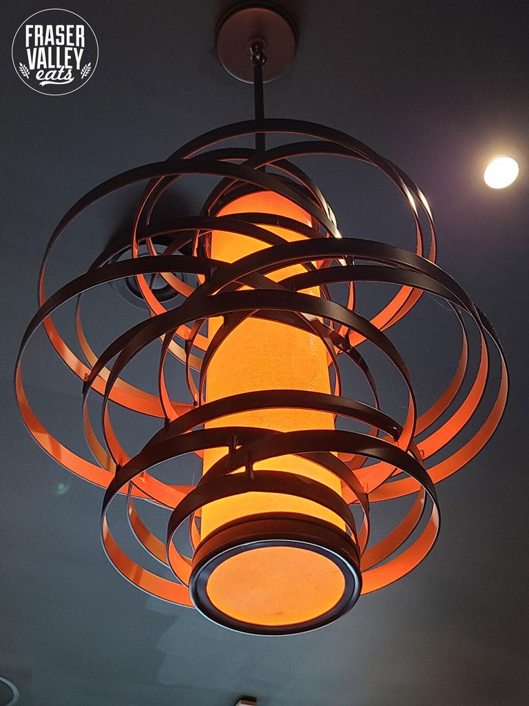 lighting fixture hanging in An Indian Affair restaurant
