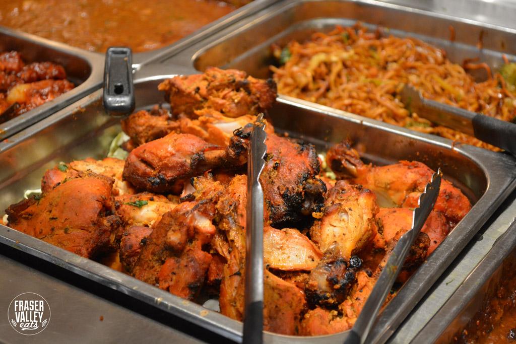 tandoori chicken in a serving tray